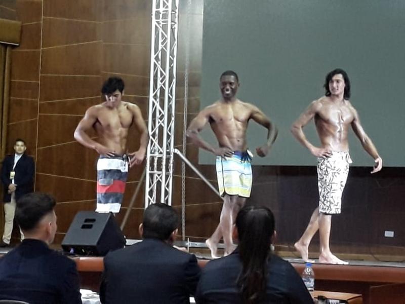 Yachay Tech representatives participate in Mr. UTA Competition