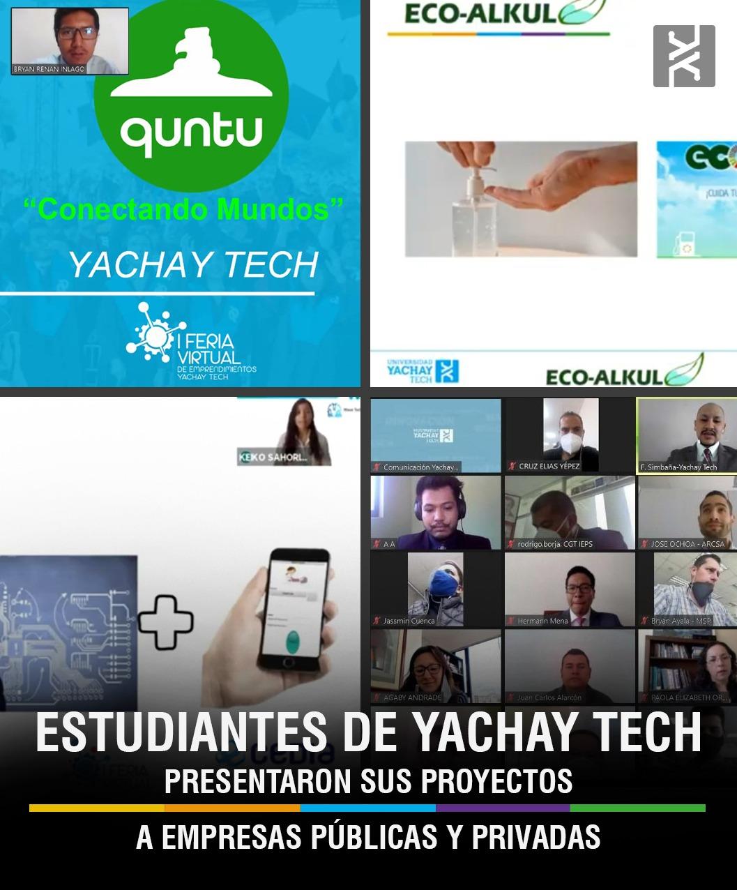 ESTUDIANTES DE YACHAY TECH PRESENTARON SUS PROYECTOS A EMPRESAS PÚBLICAS Y PRIVADAS