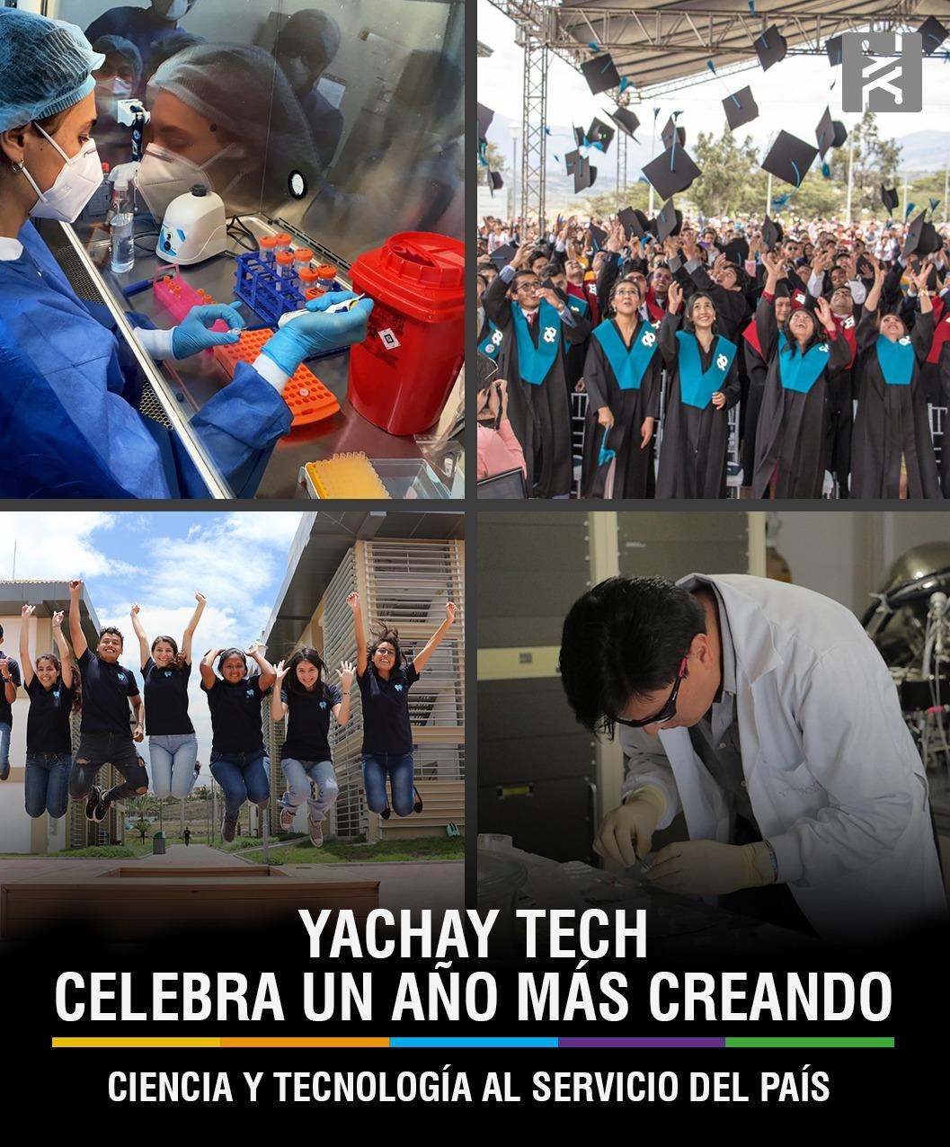 YACHAY CELEBRA UN AÑO MÁS CREANDO CIENCIA Y TECNOLOGÍA AL SERVICIO DEL PAÍS