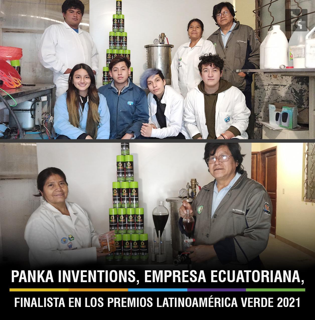 PANKA INVENTIONS, EMPRESA ECUATORIANA, FINALISTA EN LOS PREMIOS LATINOAMÉRICA VERDE 2021