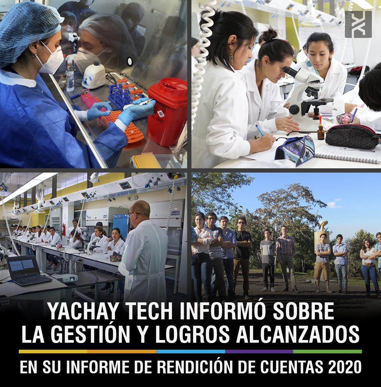YACHAY TECH INFORMÓ SOBRE LA GESTIÓN Y LOGROS ALCANZADOS EN SU INFORME DE RENDICIÓN DE CUENTAS 2020