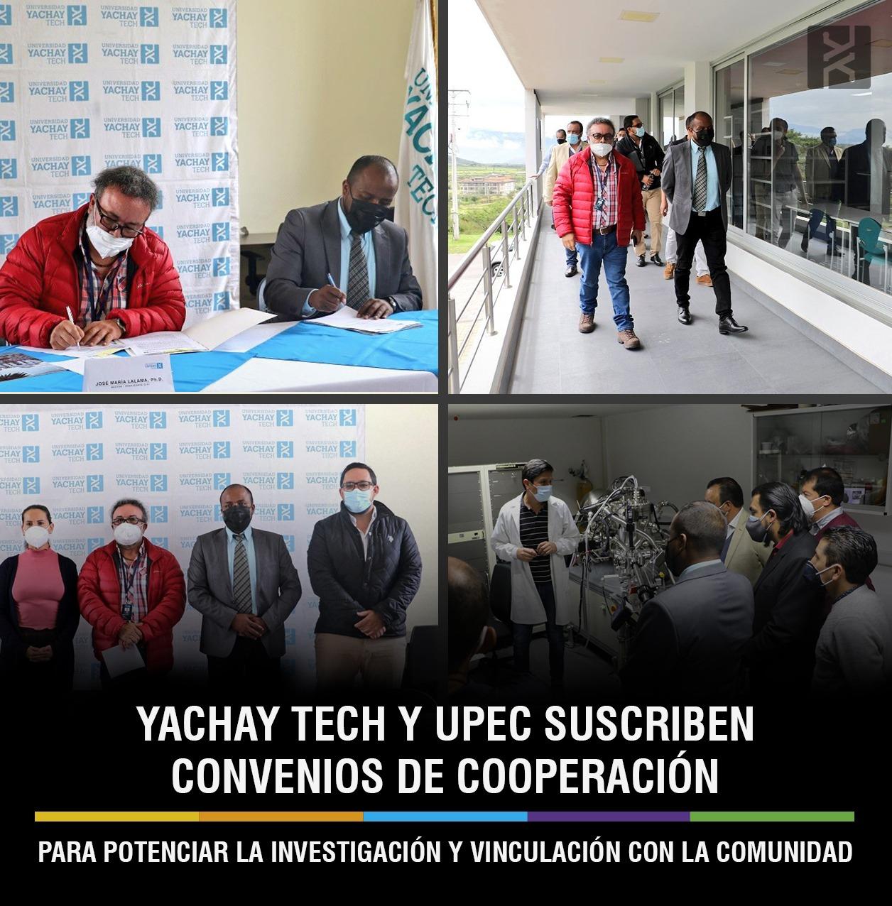 YACHAY TECH Y UPEC SUSCRIBEN CONVENIOS DE COOPERACIÓN PARA POTENCIAR LA INVESTIGACIÓN Y VINCULACIÓN CON LA COMUNIDAD