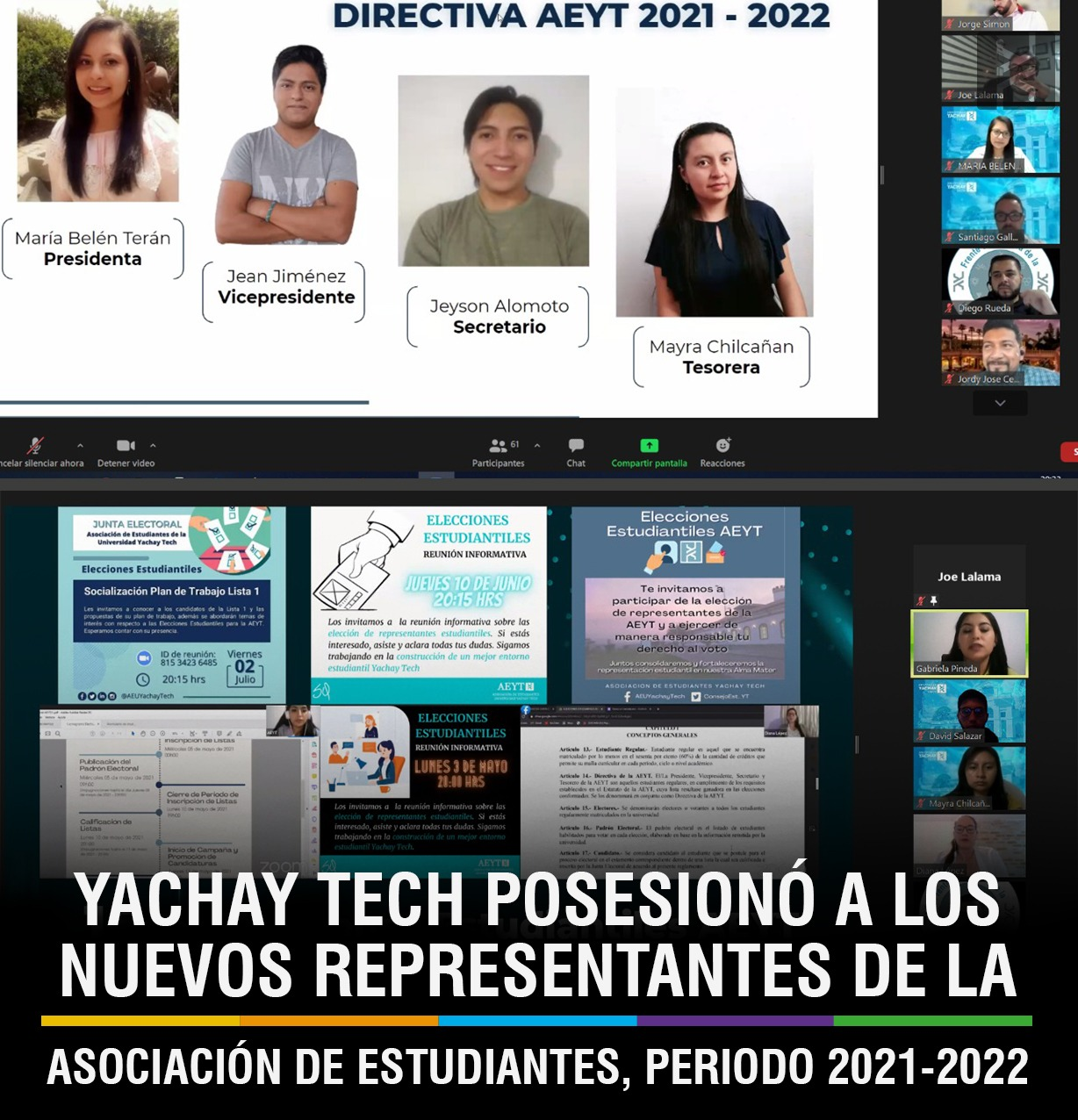 NEW REPRESENTATIVES OF THE STUDENT ASSOCIATION OF YACHAY TECH TAKE OFFICE FOR 2021-2022